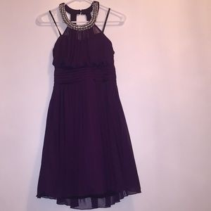 Wine Formal Short Dress - party, holiday, prom